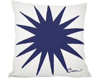 Starburst 20in Pillow in Navy