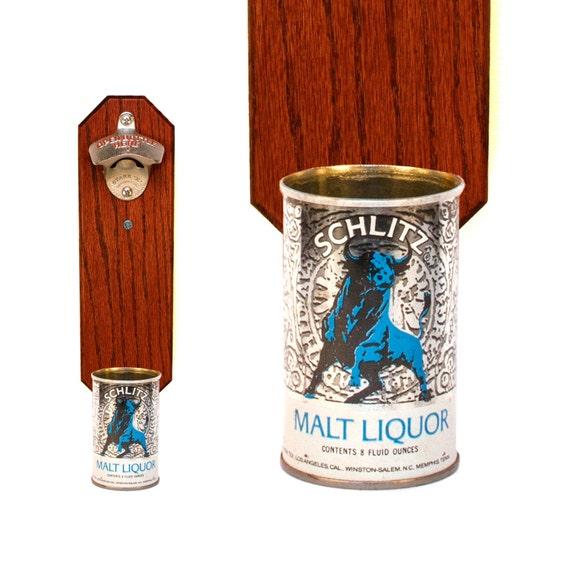 Schlitz Malt Liquor Wall Mounted Bottle Opener With By