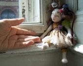 """OOAK  pixie art doll- """"Hazel"""""""