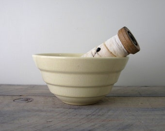 Yellow USA Pottery Mixing Bowl