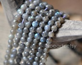 SALE 95pcs Labradorite Smooth Round Beads 6mm Spectrolite  -(V6077-6)/ Full strand