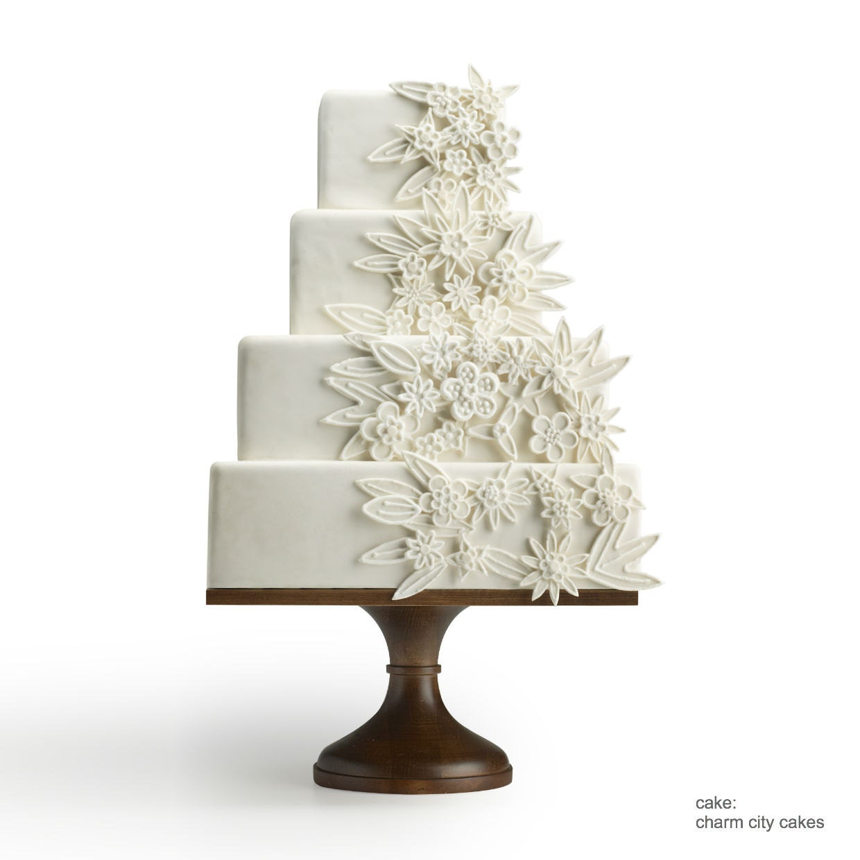 Square Natural Wood Wedding Cake Stand by SarahsStands on Etsy