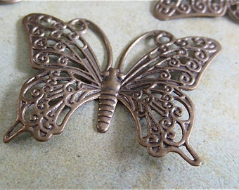 Butterfly finding - 5 - Antique Bronze - Butterfly Pendants (ABBP)