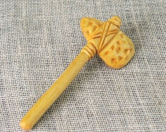 Vintage Pin, Brooch, Folk Art, Hand Carved, Tomahawk, Lapel Pin, Jewelry, Wood Carving, Handmade, Handmade Jewelry, Hand Carved, Primitive