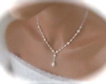 Bridal jewelry set Ivory wedding necklace and earring set Wedding Jewelry Bridal Pearl Set