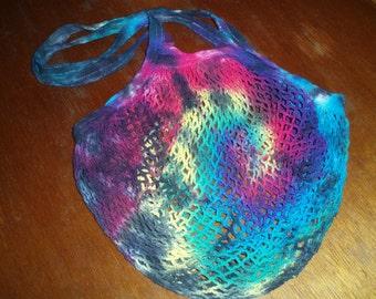 Farmer's Market - Mesh Bag - Tie Dye - Ecofriendly - Handbag - Christmas - Gift - Stocking Stuffer