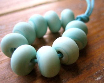 Copper Green Lampwork Spacer Beads, FHFteam, SRA, UK