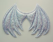 White Iridescent Sparkle Dragon Wings, Ice Dragon Halloween Costume, costume wings, cosplay wings, cosplay dragon, bewilderbeast