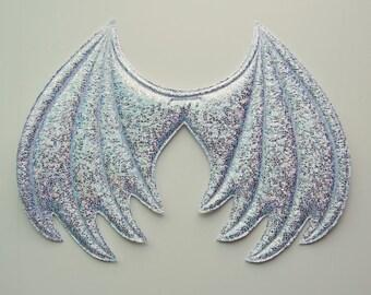 White Iridescent Sparkle Dragon Wings, Ice Dragon Halloween Costume, costume wings, cosplay wings, cosplay dragon, bewilderbeast