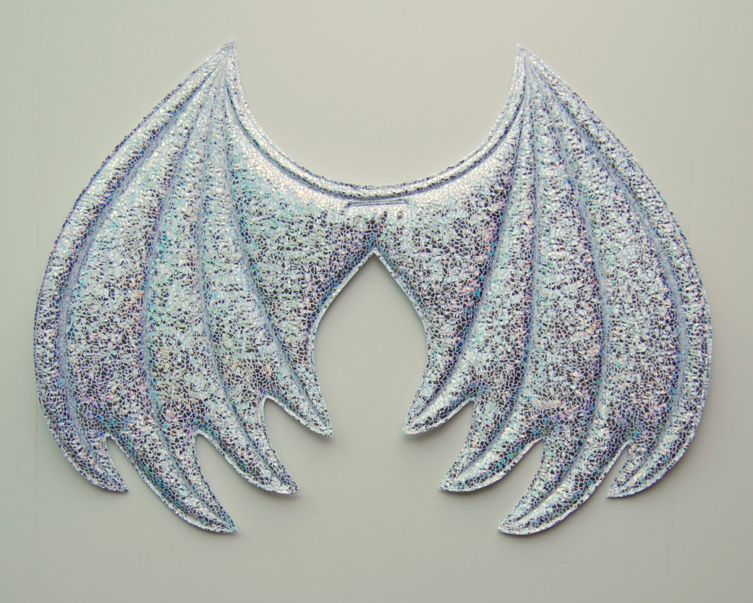 White Iridescent Sparkle Dragon Wings Ice Dragon Halloween - photo#18
