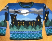 Knitting Pattern: Castle Size Four Years