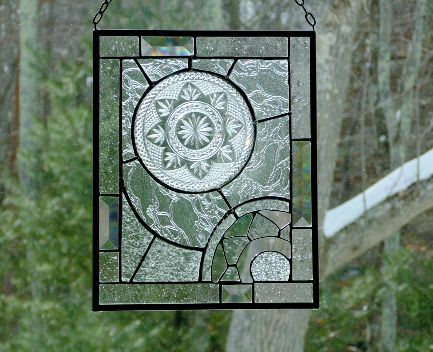 Stained glass panel abstract modern window decoration home for 18x18 window