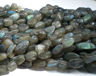 Blue Flash Labradorite Beads Nugget Beads Labradorite Nuggets Large Labradorite Full Strand