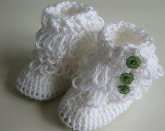 Ugg Boots, Uggs Baby Boots Newborn-6 months, Crochet loop booties, baby shoes, baby slippers, rain boots, baby girl booties, custom orders
