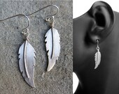 SALE Dove Feather Earring