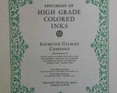 Vintage ink specimen book - sample color plates