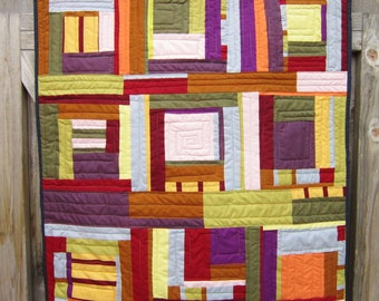 Color Block Quilted Wallhanging