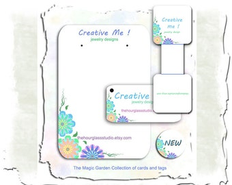 Custom Earring Cards Jewelry Cards 076  Personalized Custom Display Tags Business Cards  Necklace Card Plastic Barbs
