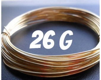 NuGold Brass Wire 26g Round Dead Soft 5-100ft