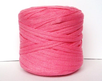 Light Pink T-Shirt Yarn, Cotton T-Shirt Tricot, Fabric Jersey Ideal for Necklaces, Bracelets, Rugs and Bags - 2,7m/3 yards(1 piece)