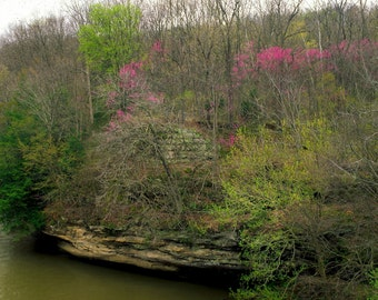 Four Season 8x10 Fine Art Photos, Sugar Creek, Parke County,  Indiana