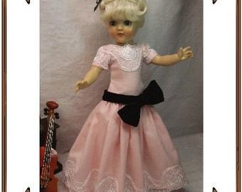 Toni Doll Clothes Pattern - Recital Gown - No. 201