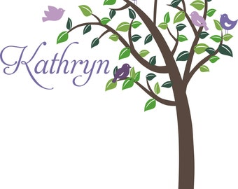Tree Branch Love & Nature Baby Nursery Playroom BIG Vinyl Wall Decal Decor Wall Lettering Words Quotes Decals Art Custom