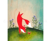Fox Adventure 2 Learning Something New - art print