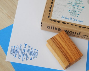 Greek Supper - Boxed Greece Inspired Stamp and Ink Pad