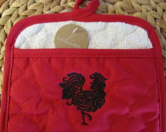 Pot Mitt - French Rooster - Whim - 100% Cotton