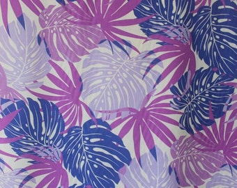 Hawaiian Print Blend Fabric (Yardage Available)