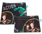 Reuseable Eco-Friendly Set of Snack and Sandwich Bags in Toy Story Fabric