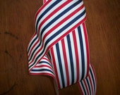 Nautical or Patriotic vintage ribbon stripe millinery 1940's wide