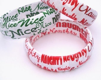 Naughty or Nice Bracelet, Stocking Stuffers Gift, Holiday Jewelry, Christmas in July, Stocking Stuffer Jewelry, Gift for her