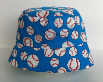 BUCKET HAT - Sun Hat - Baseballs - Baseball Bucket Hat