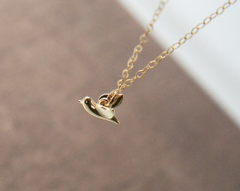 Gold Bracelet,Tiny Gold Bird,Dainty Simple Bracelet,Bride,Bridesmaids,Bridal Party Jewelry,Everyday Jewelry,Layering Bracelet
