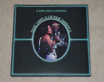 """Vintage 1977 Vinyl LP Record Album  """" Isaac Hayes and Dionne Warwick """" Two LP Set"""