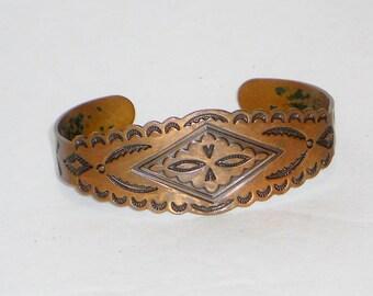 Vintage Copper Cuff Bracelet, Jewelry