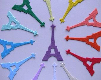 25 Seed Paper Eiffel Towers