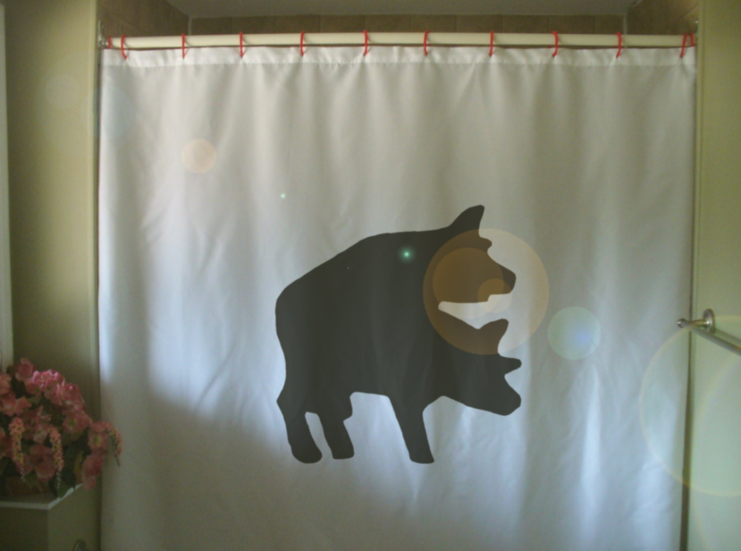 Natural shower curtain -  Zoom