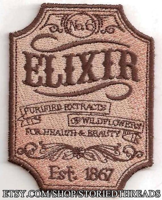 Victorian Elixir Patch, Medicine Label
