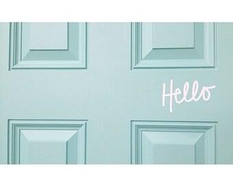 Vinyl Wall Sticker Decal Art - Hello