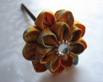 Thoughts of Fall Autumn Kanzashi Hair Stick