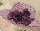 Girl's Easter Hat - Purple Easter Hat for girls - Tea Party Hat - Girl's Dress Hat - Church Hat