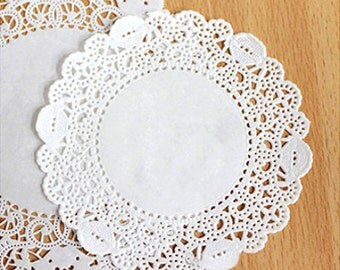 50 Romantic Ivy Lace Paper Doilies (3.5in)