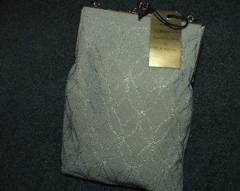 Vintage white Beaded Evening Bag Purse