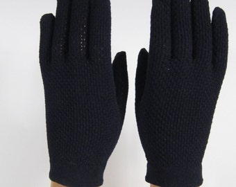 allsz -Vintage Webbed Black Gloves - 7 inches long(350g)