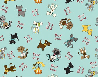 Puppy Park Bow Wow I Love My Dog I Spy Dogs By the Fat Quarter BTFQ OOP Riley Blake