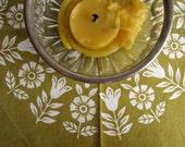 Vintage Swedish Screenprints: Olive Wreath