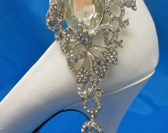 Bridal Shoe Clips,  Rhinestone Shoe Clips, Gatsby Shoe Clips, Wedding Shoe Clips, Bride Shoe Accessory